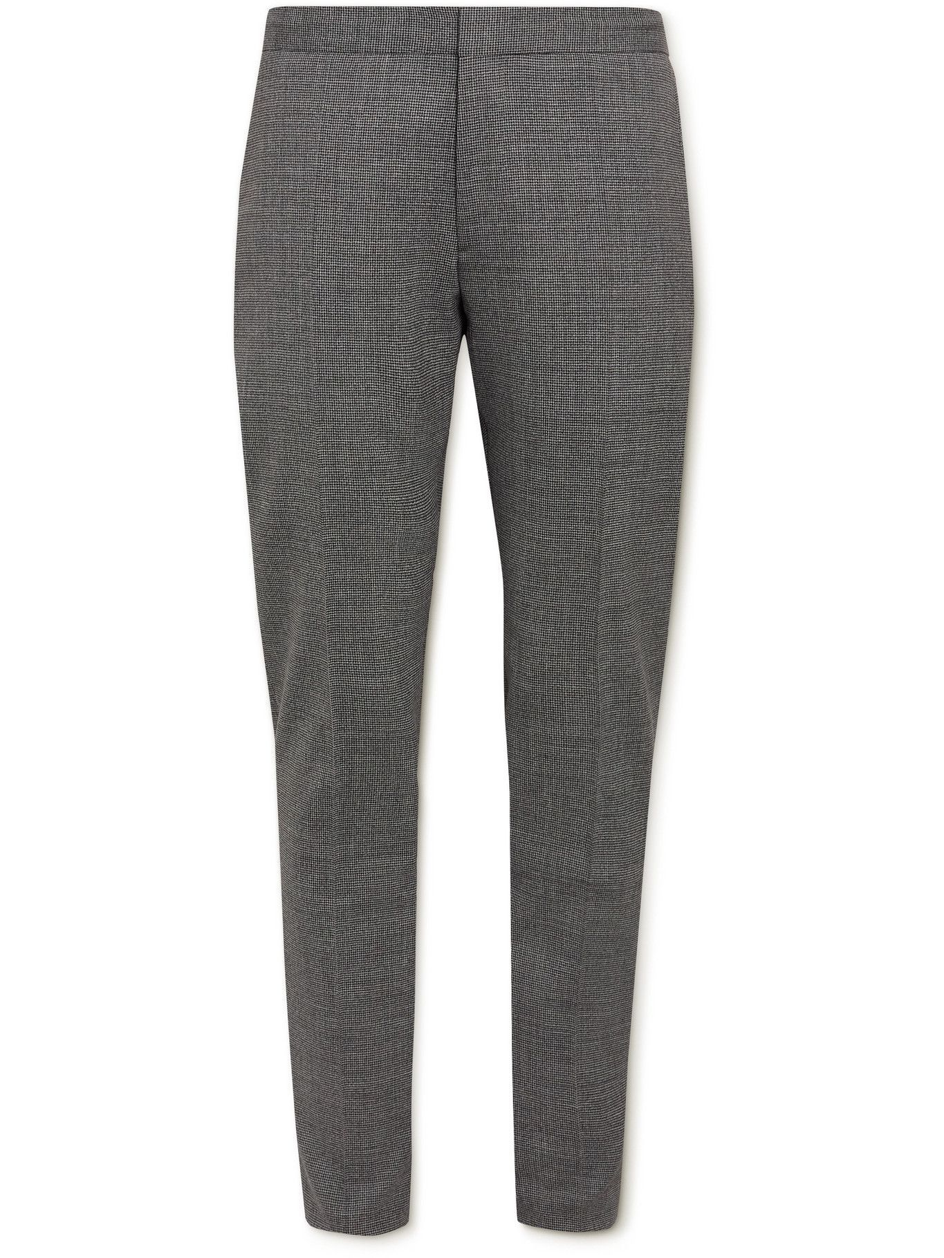 Photo: HUGO BOSS - Slim-Fit Puppytooth Stretch Virgin Wool Trousers - Gray