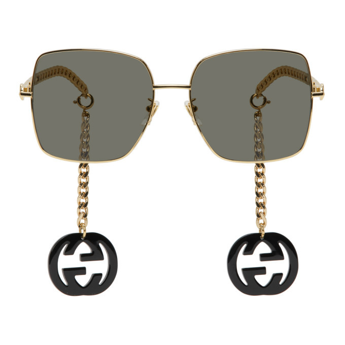 Photo: Gucci Gold and Black GG0724S Sunglasses