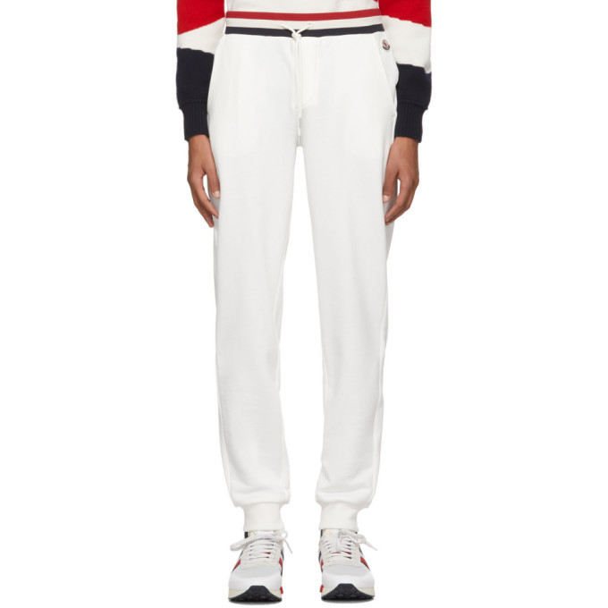 Photo: Moncler White Retro Lounge Pants