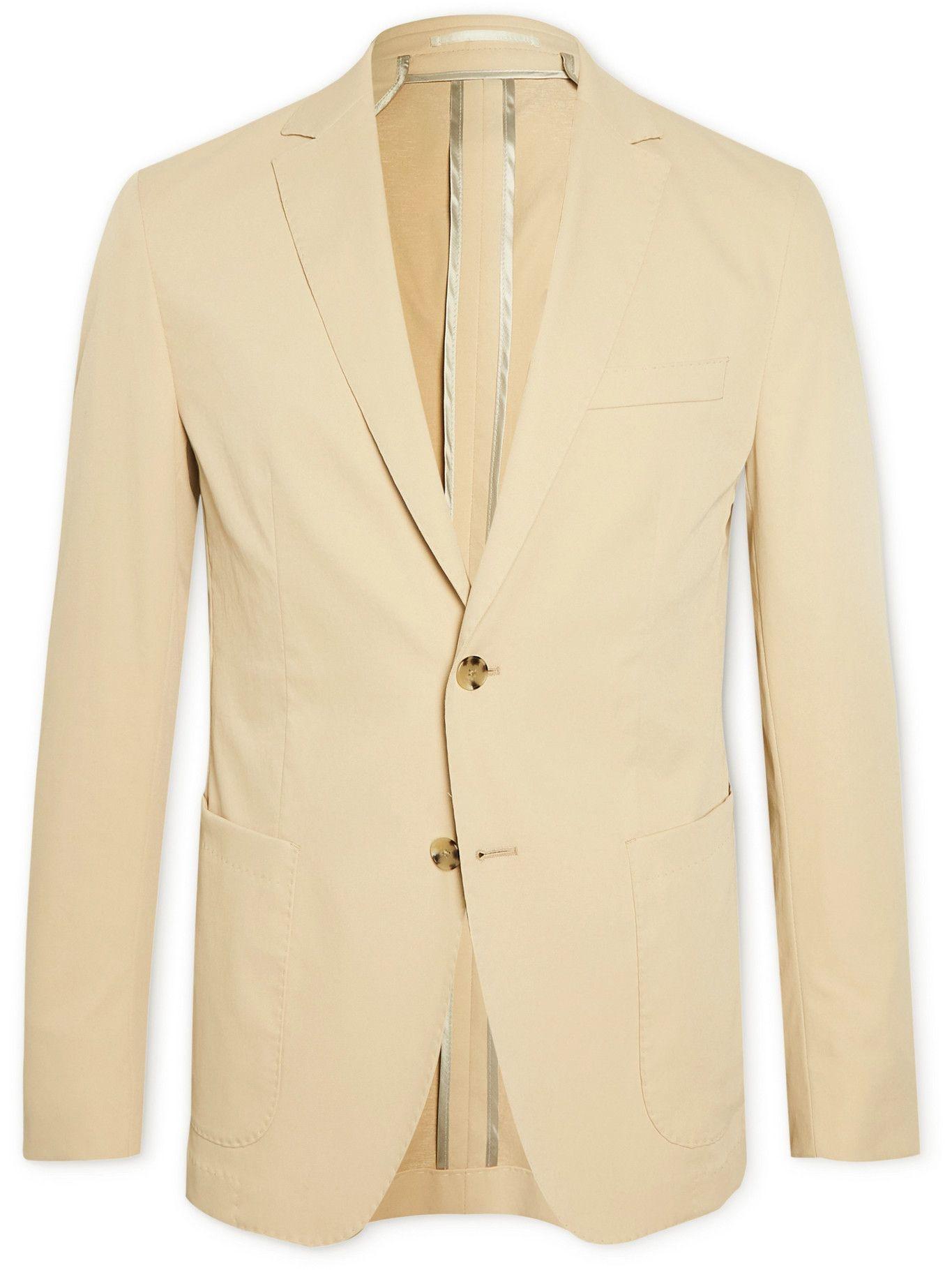 Photo: HUGO BOSS - Slim-Fit Unstructured Twill Suit Jacket - Neutrals