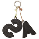 Acne Studios Yellow and Blue Letters Keychain