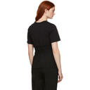 3.1 Phillip Lim Black Pleated Waist T-Shirt