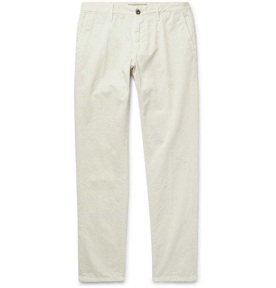 Photo: Incotex - Slim-Fit Cotton-Twill Chinos - Off-white