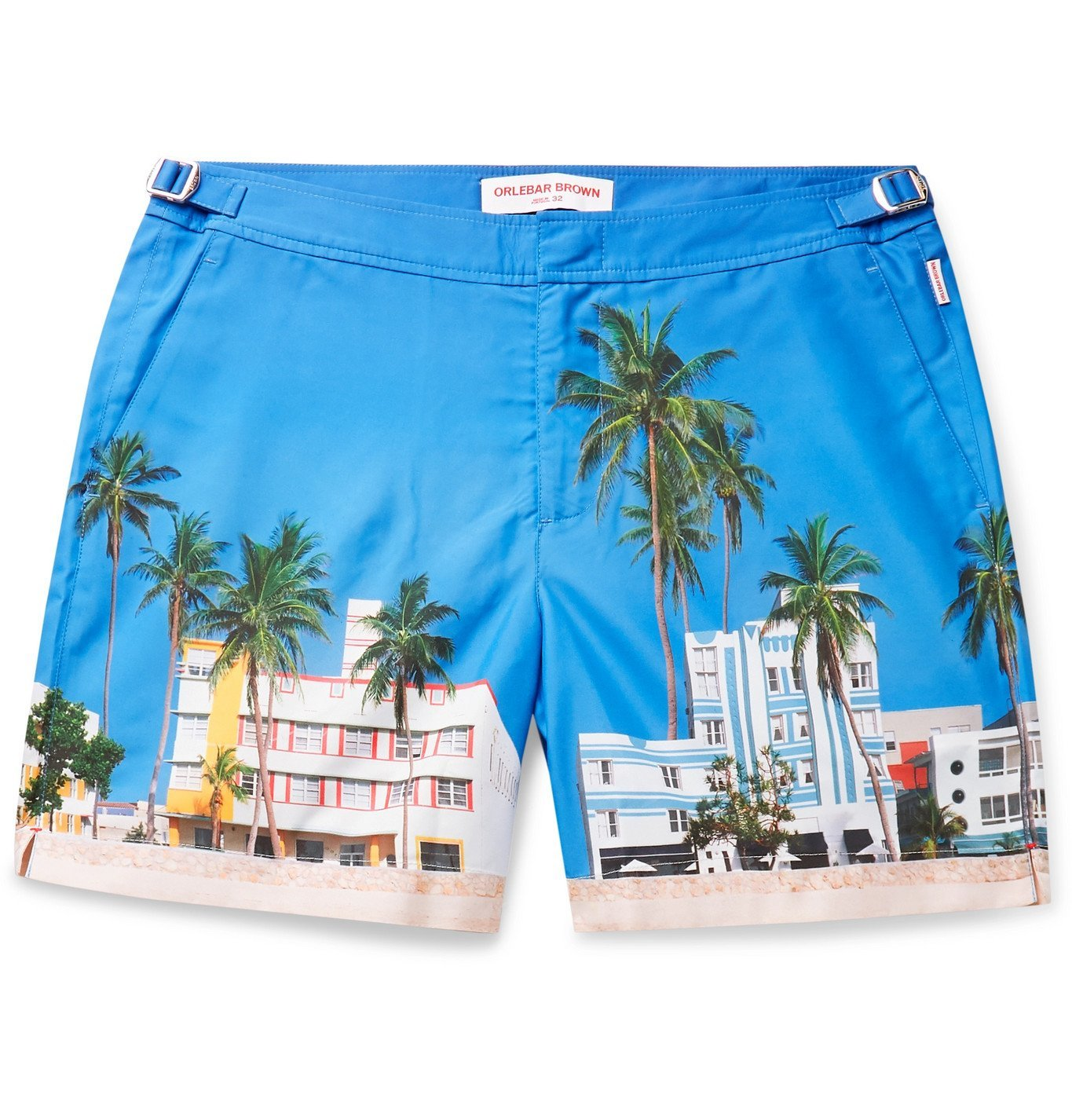 Photo: Orlebar Brown - Bulldog Mid-Length Printed Swim Shorts - Blue