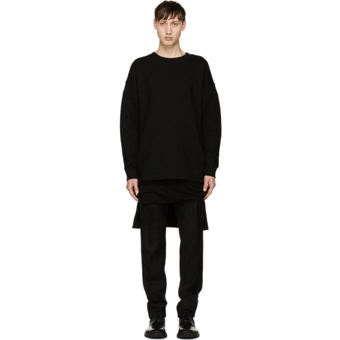 Photo: Balmain Black Oversized Wool Pullover