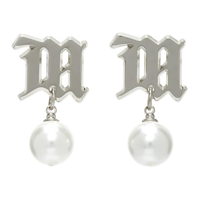 Photo: MISBHV Silver Pearl Monogram Earrings