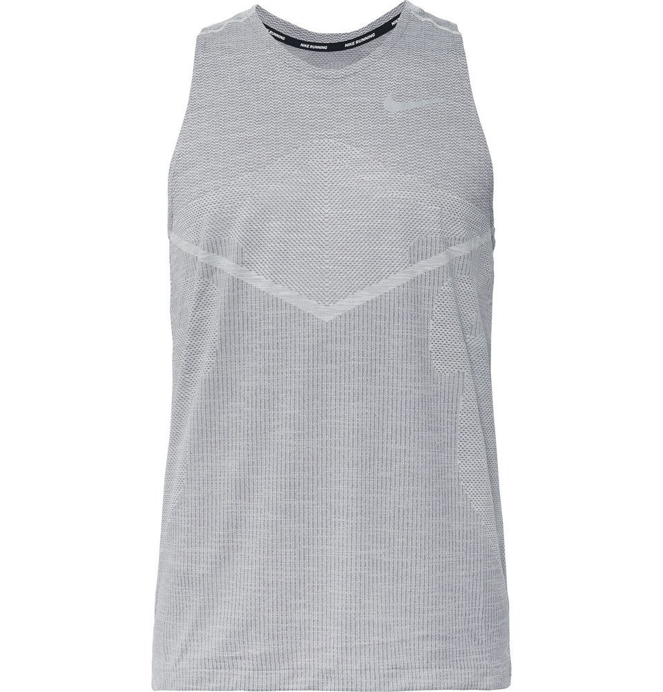 Photo: Nike Running - TechKnit Cool Dri-FIT Tank Top - Gray