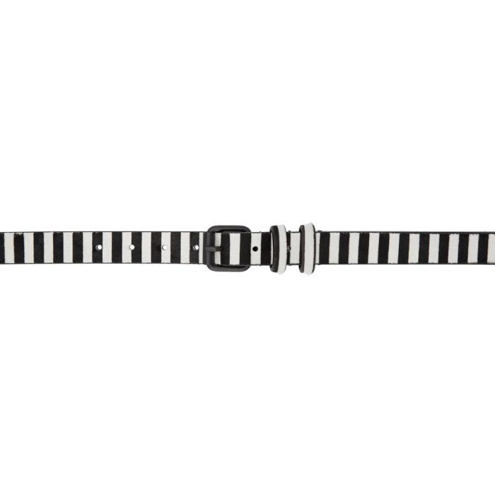Photo: Haider Ackermann Black and White Medium Okenite Belt