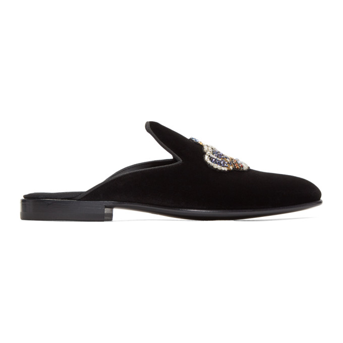 Photo: Versace Black Crown Open Loafers