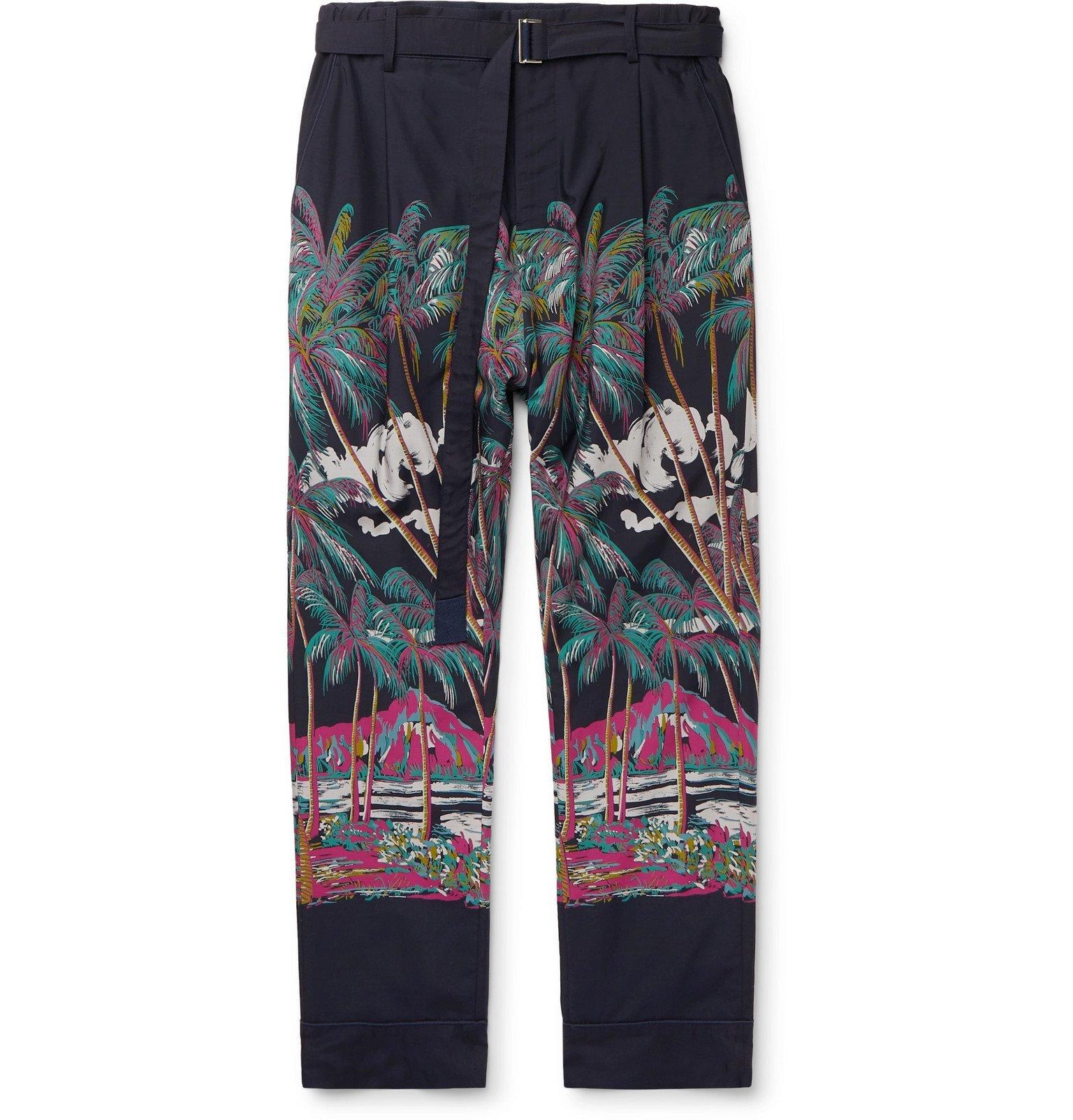 Sacai - SUN SURF Diamond Head Printed Voile Trousers - Multi