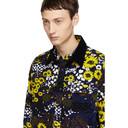 Sacai Navy Floral Print Shirt