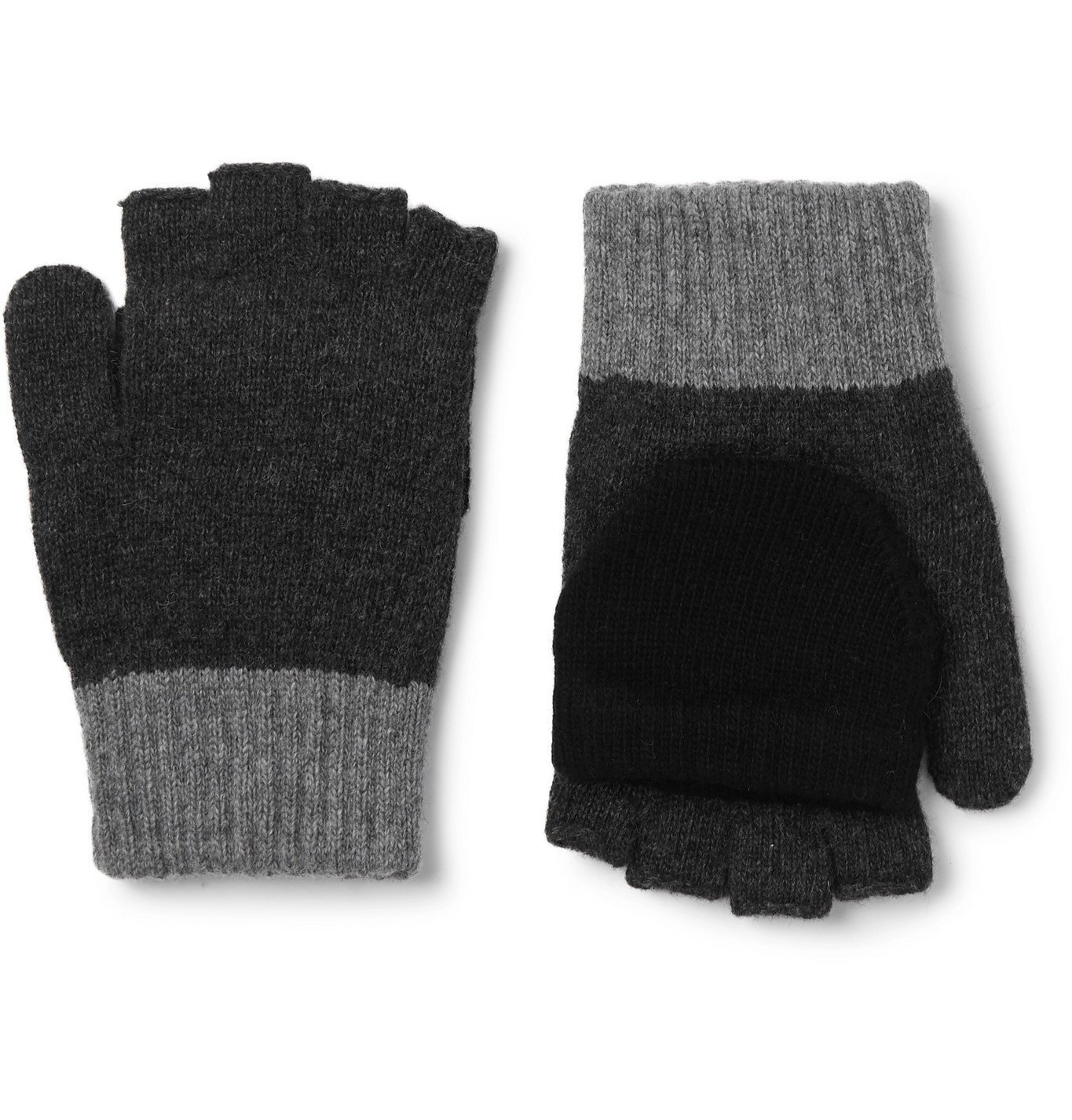 Photo: Oliver Spencer - Wool-Blend Fingerless Gloves - Gray