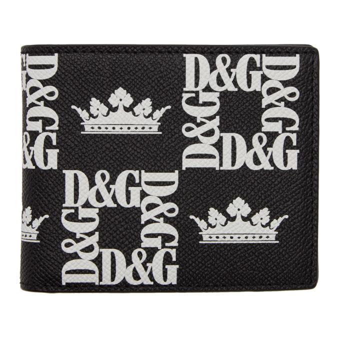 Photo: Dolce and Gabbana Black Logo Crown Wallet