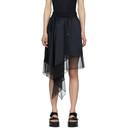 Sacai Black Chiffon Asymmetric Skirt
