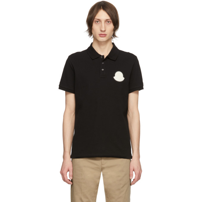 Photo: Moncler Black Manica Corta Maglia Polo