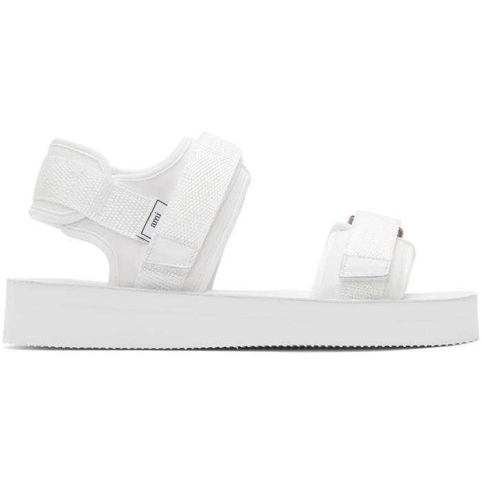 AMI Alexandre Mattiussi White Neoprene Sandals smjkQXzxnD