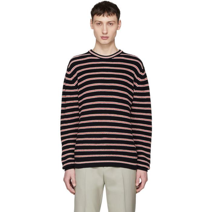 Photo: Harmony Navy Striped Warrick Sweater