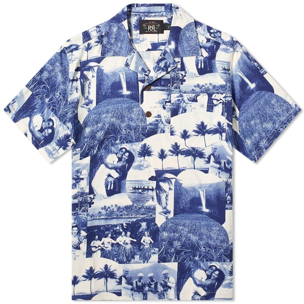RRL Postacrd Print Vacation Shirt