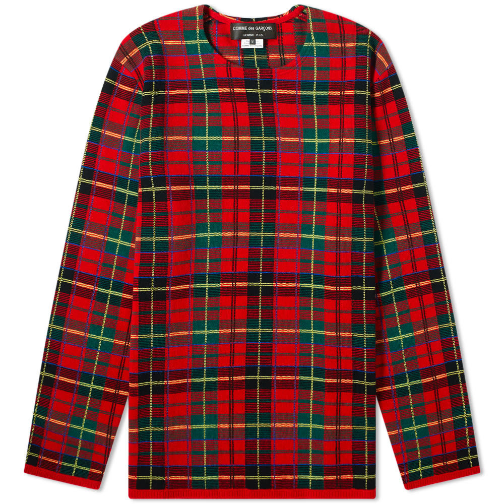 Photo: Comme des Garcons Homme Plus Tartan Check Crew Knit