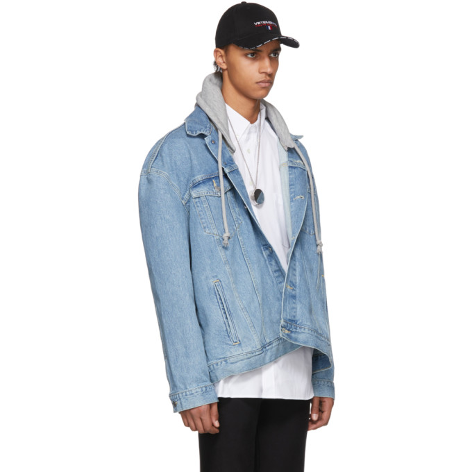 Vetements Blue Levis Edition Oversized Hooded Denim Jacket