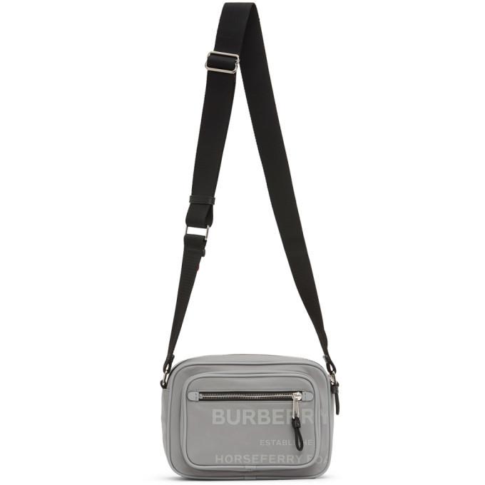 Photo: Burberry Grey Padded Logo Messenger Bag