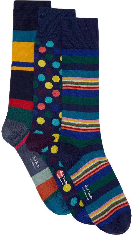 Photo: Paul Smith Three-Pack Multicolor Mixed Socks