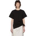 3.1 Phillip Lim Black Gathered Ring T-Shirt