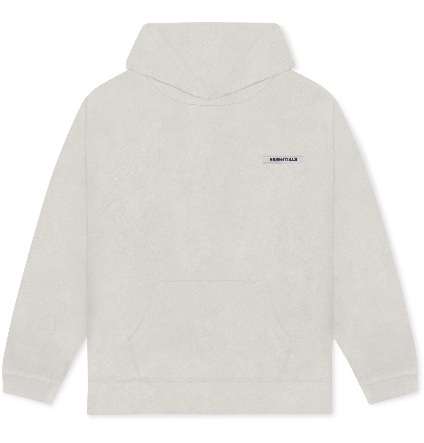 Photo: Fear of God Essentials - Logo-Appliquéd Mélange Fleece Hoodie - Neutrals