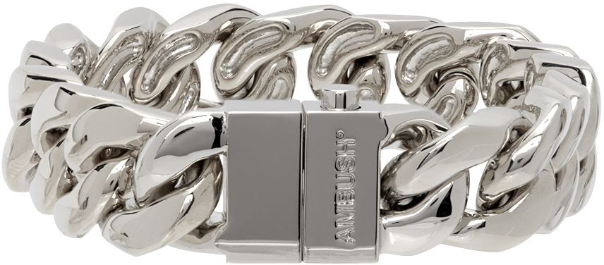 Photo: Ambush Silver Classic Chain 7 Bracelet