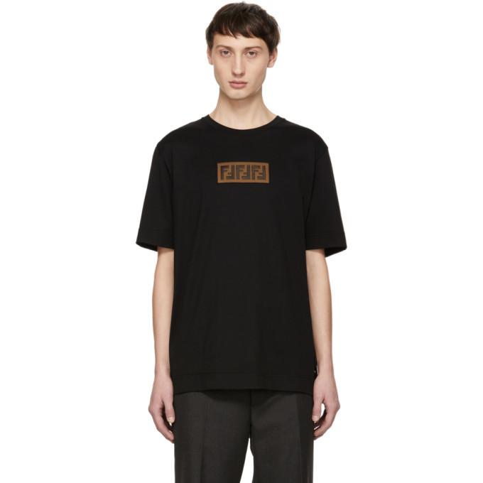 Photo: Fendi Black Forever Fendi Patch T-Shirt