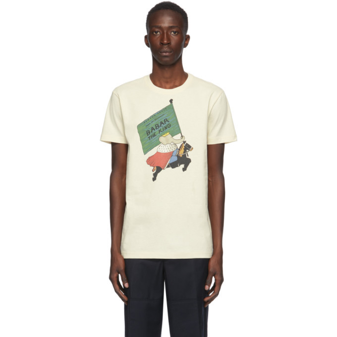 Photo: Lanvin Beige Babar Edition The King T-Shirt