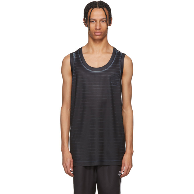 Photo: adidas Originals by Alexander Wang Black and White Basketball Jersey Tank Top