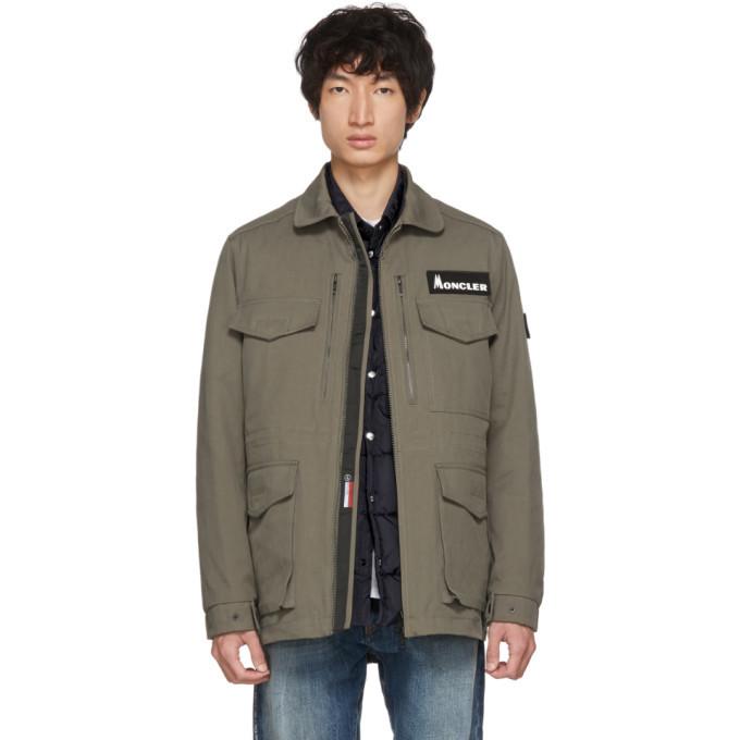 Photo: Moncler Genius 7 Moncler Fragment Hiroshi Fujiwara Khaki Down Jacket