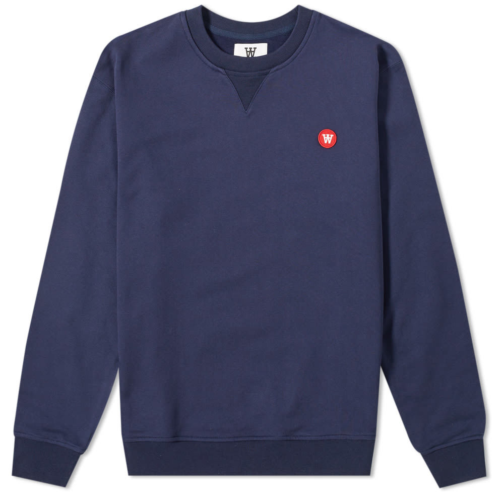 Photo: Wood Wood Tye Crew Sweat Navy