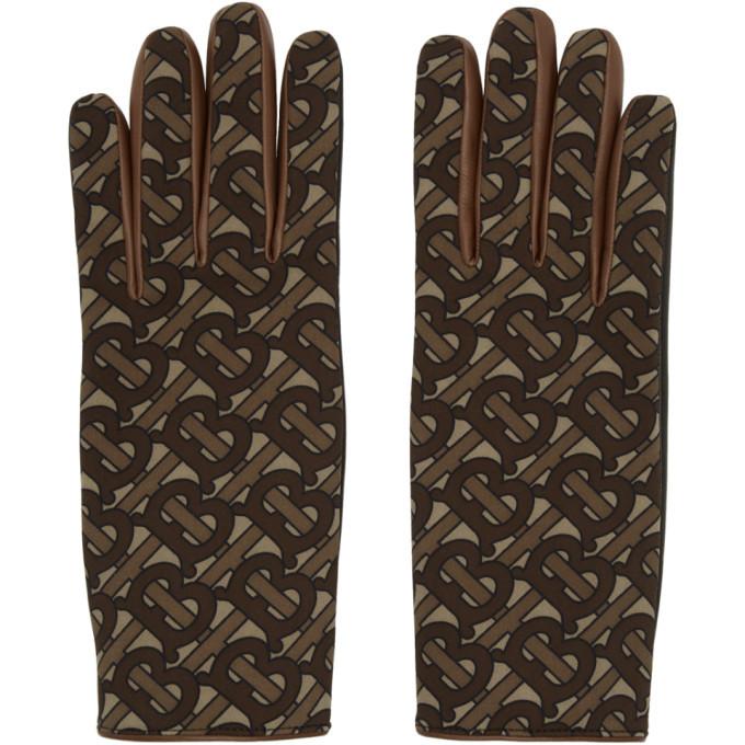 Photo: Burberry Brown Monogram Classic Gloves