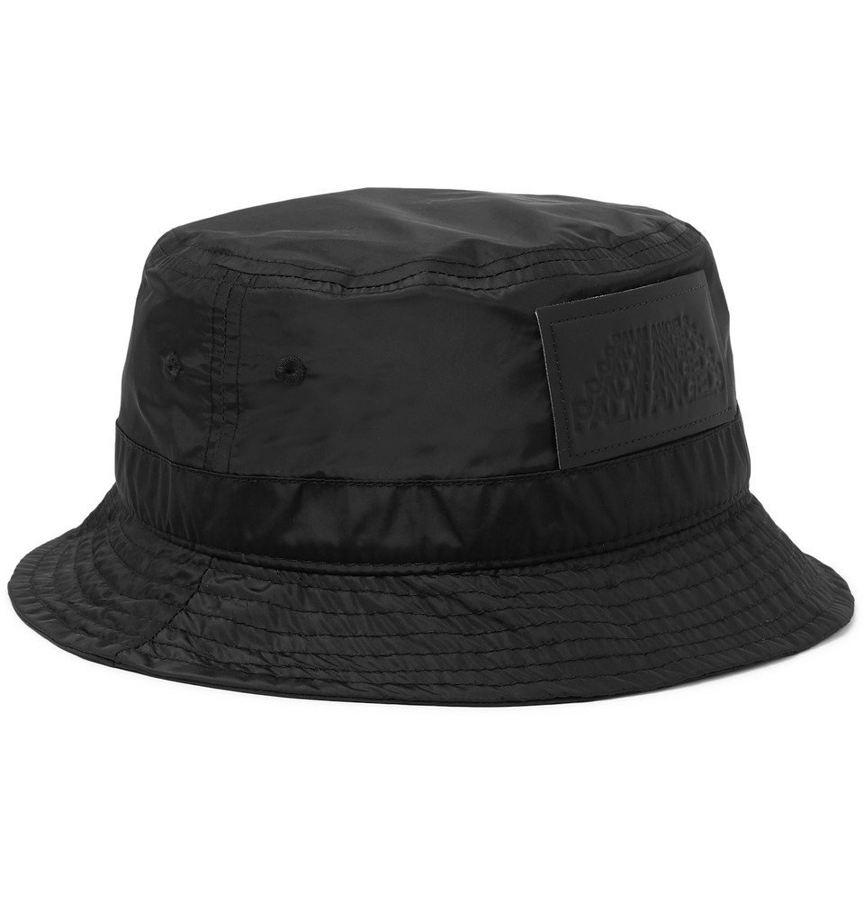 Photo: Palm Angels - Logo-Appliquéd Shell Bucket Hat - Black