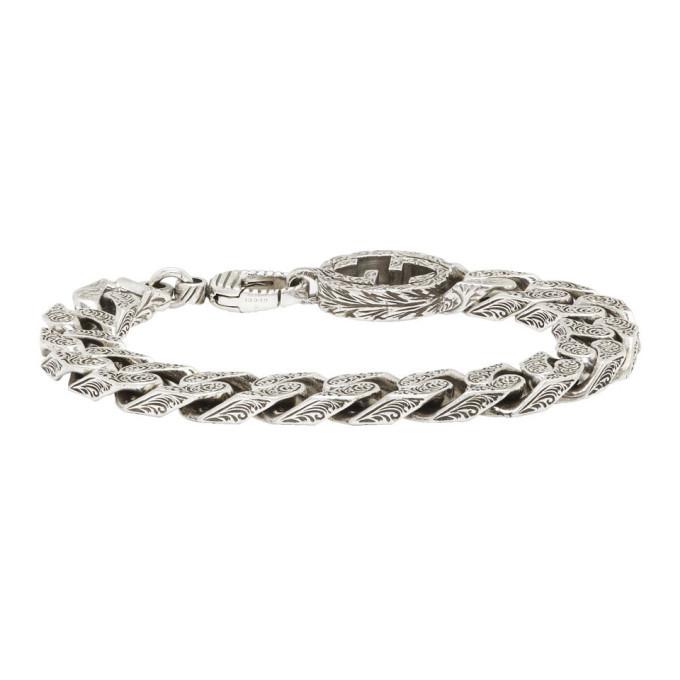 Photo: Gucci Silver Interlocking G Chain Bracelet