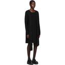 Comme des Garcons Homme Plus Black Worsted Yarn Braid Dress
