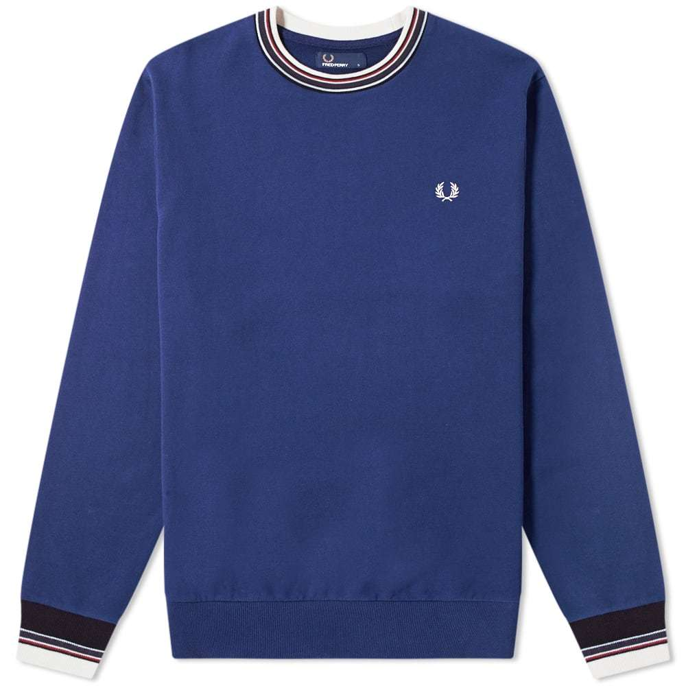 Photo: Fred Perry Authentic Bold Tipped Crew Sweat French Navy