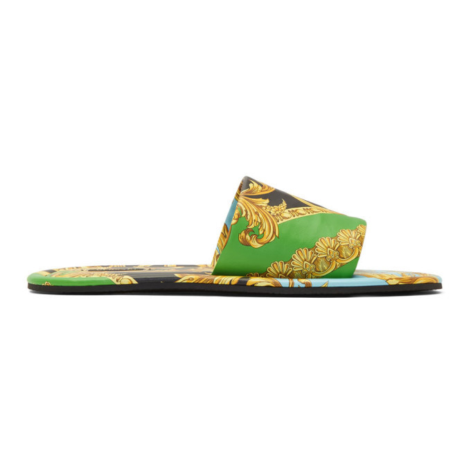 Photo: Versace Green Home Of Barocco Sandals