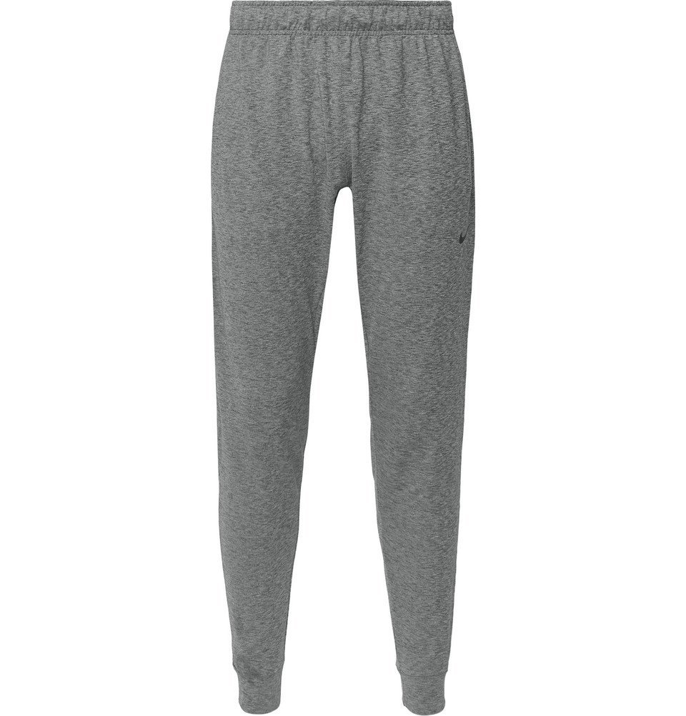 Photo: Nike Training - Tapered Space-Dyed Dri-FIT Sweatpants - Charcoal