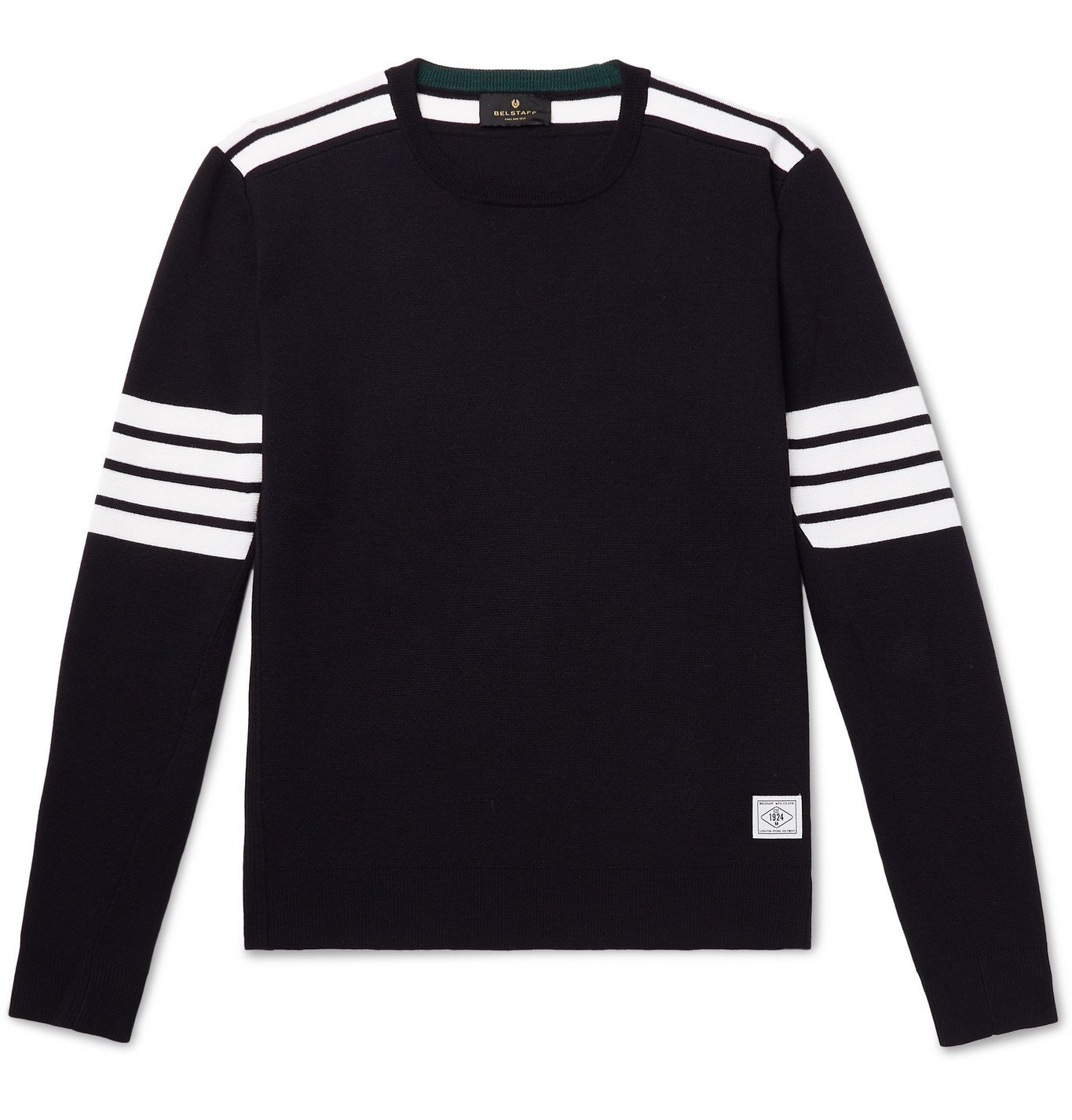 Photo: Belstaff - Outboard Striped Wool Sweater - Blue