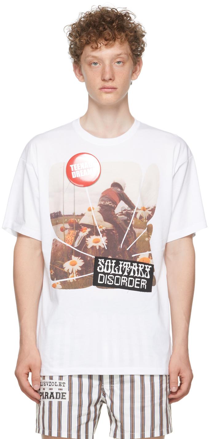 Photo: Raf Simons White Print 'Solidarity Disorder' T-Shirt
