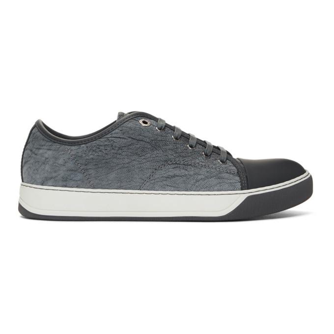Photo: Lanvin Grey Calfskin Sneakers