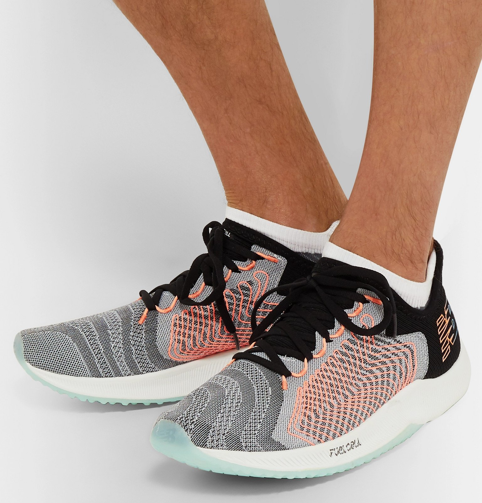 New Balance - FuelCell Rebel Stretch-Knit Running Sneakers - Gray