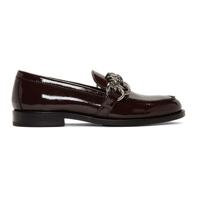 Photo: HOPE Brown Patent Patty Chain Loafers