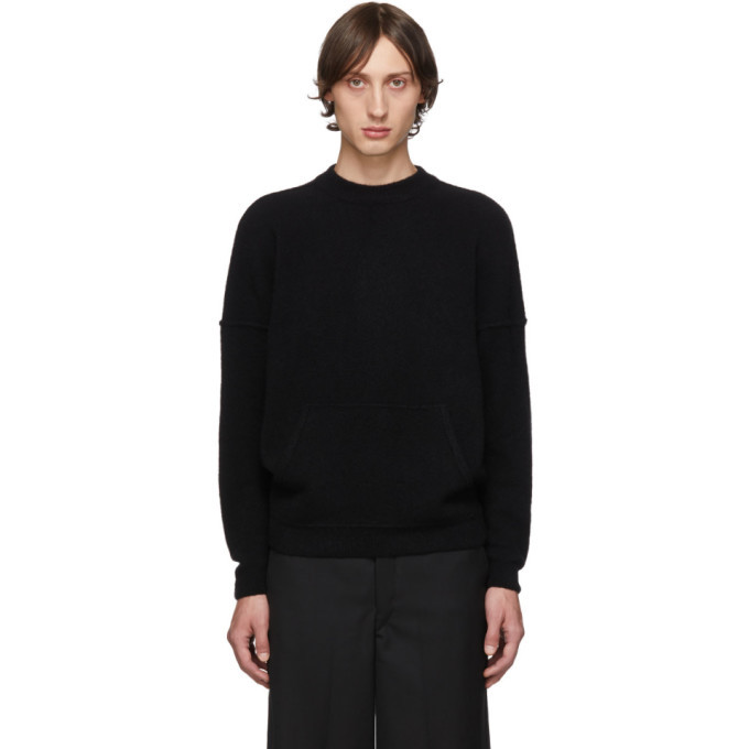 Photo: Giorgio Armani Black Cashmere and Silk Kangaroo Pocket Sweater