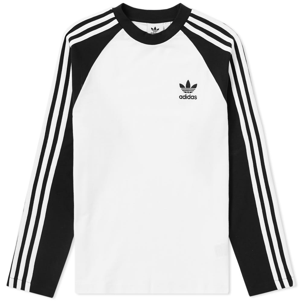 Photo: Adidas Long Sleeve 3 Stripe Pique Tee