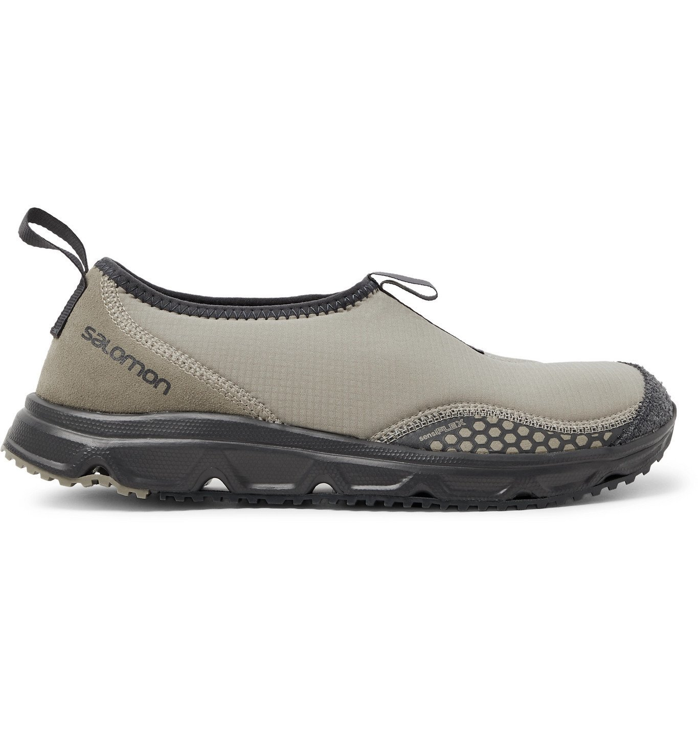 Photo: Salomon - RX Snow Moc Advanced Ripstop, Suede and Rubber Sneakers - Neutrals