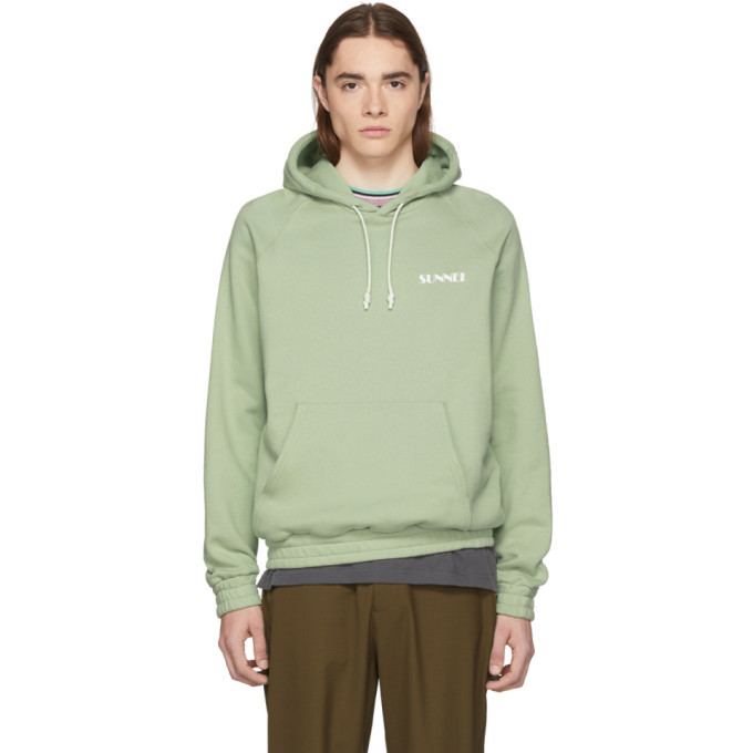 Photo: Sunnei Green Classic Fit Hoodie